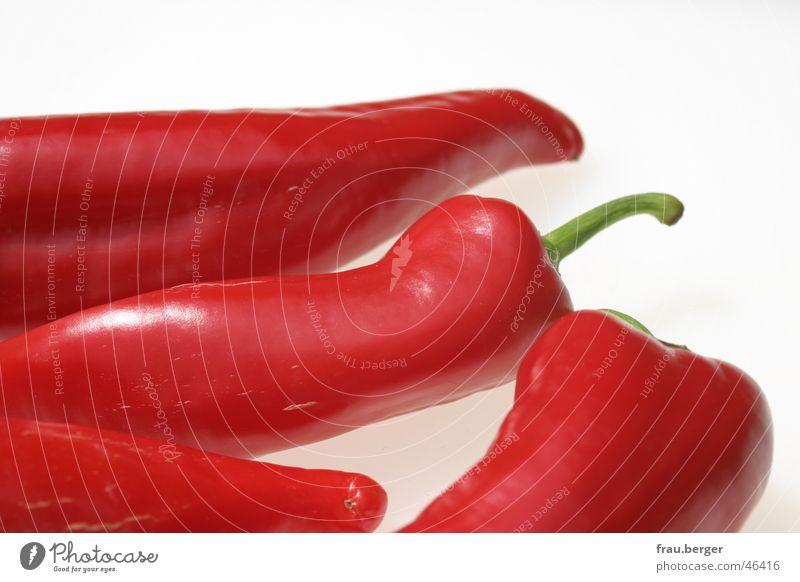 rot wie die liebe... Paprika Zusammensein Stil glänzend Gemüse rot gruppe Kontrast silleben