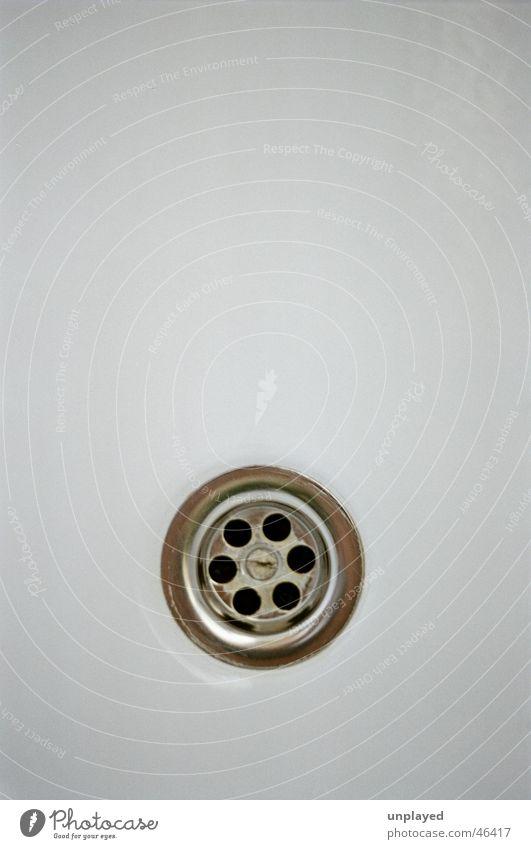 Abfluss einfach Makroaufnahme sink white clean shower bathroom sanitary flush ceramics drainpipe