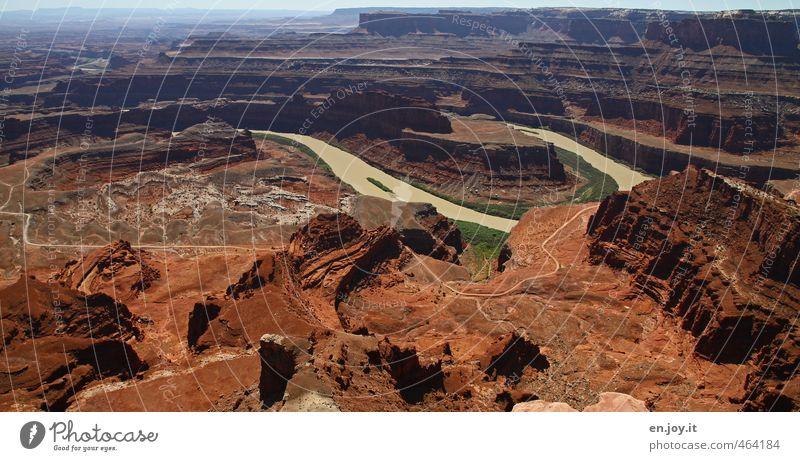 Canyon Land Natur Ferien & Urlaub & Reisen Einsamkeit Landschaft Ferne Umwelt Wege & Pfade außergewöhnlich braun Klima Abenteuer Vergänglichkeit