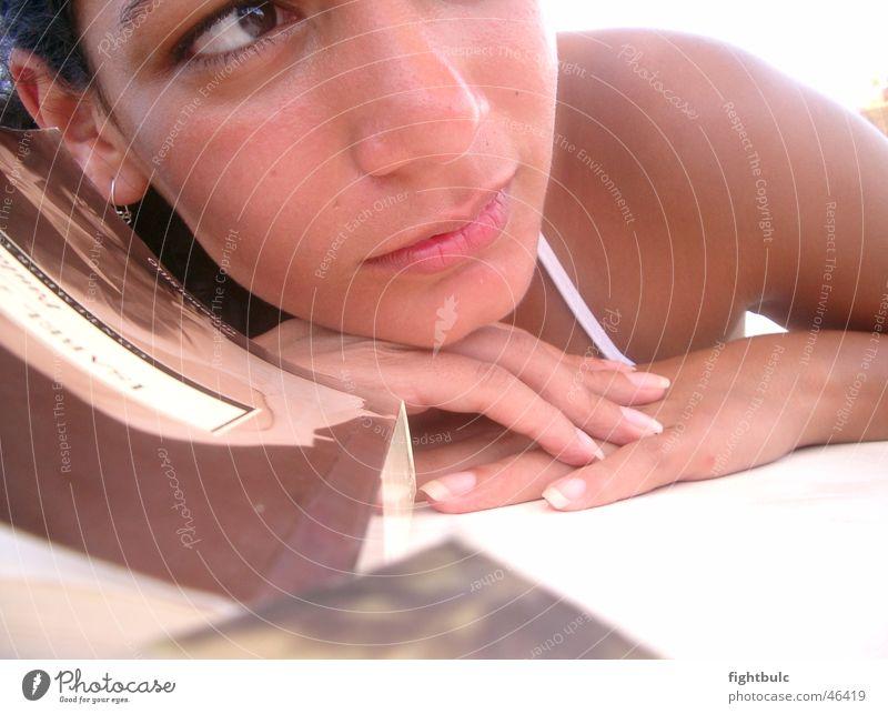 Tagtraum Frau Mädchen Sonne Sommer Strand Erholung träumen Denken Mexiko