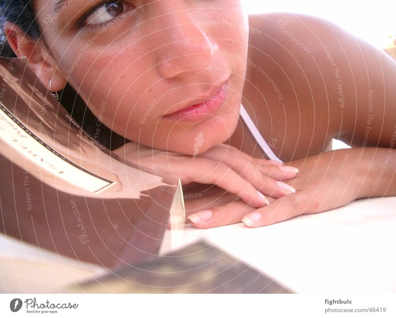 Tagtraum Mädchen Frau Denken Sommer Strand träumen Sonne Erholung Mexiko