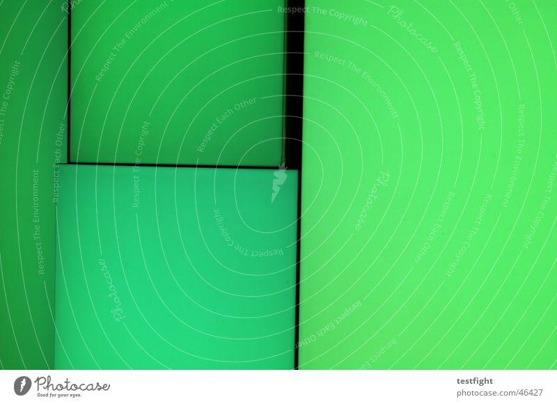 kein titel Leuchtwand Farbwand grün Beleuchtung Licht Farbe color light Mauer