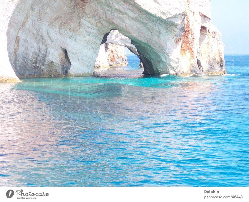 Urlaubsstimmung schön Meer blau Ferien & Urlaub & Reisen Landschaft Insel Griechenland Höhle traumhaft erholsam Zakinthos