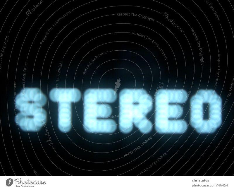 Stereo stereo schwarz Kreis Unschärfe Buchstaben blau Musik receiver Aktien Punkt