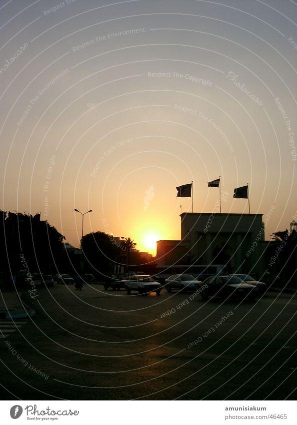 Sonnenuntergang in Kairo schön Ägypten
