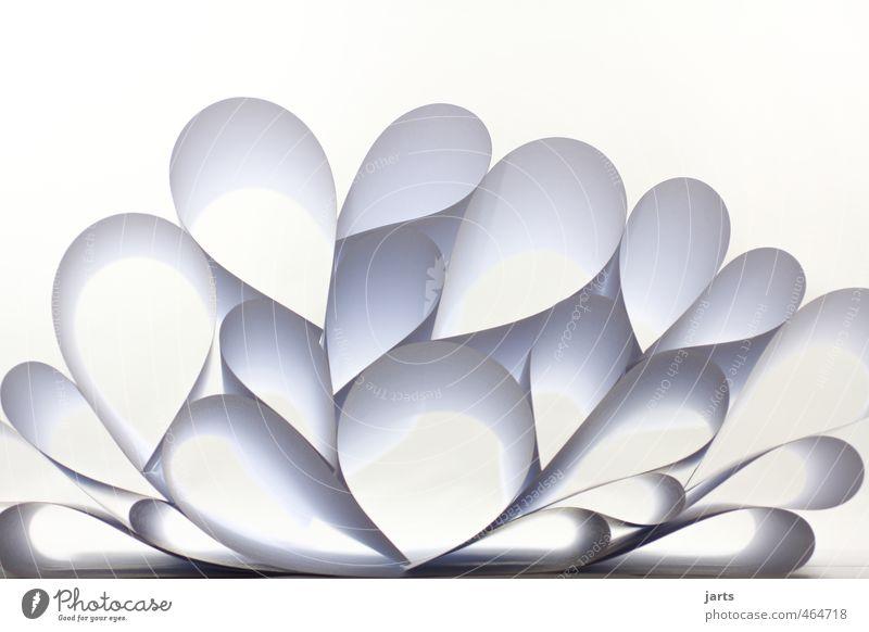 papier weiß Kunst Design Herz Kreis Papier Pyramide