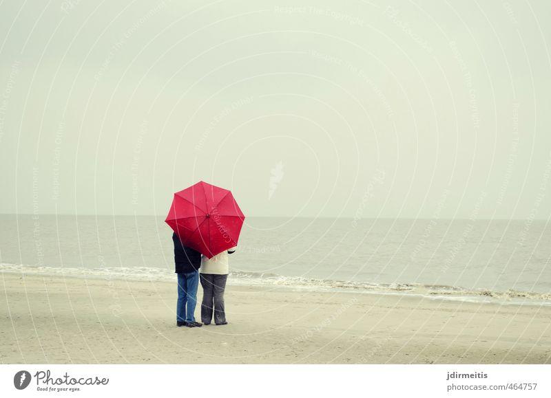 seesucht Mensch Frau Himmel Mann Ferien & Urlaub & Reisen Wasser Meer Erholung Landschaft Strand Ferne Erwachsene feminin Küste Freiheit Sand