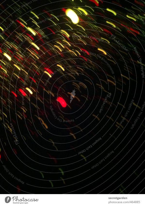 dienachtzumtagmachen. Kunst Veranstaltung Show Bewegung dunkel glänzend gruselig mehrfarbig schwarz bizarr Rätsel abstrakt Lichtermeer lichterregen Regenwasser
