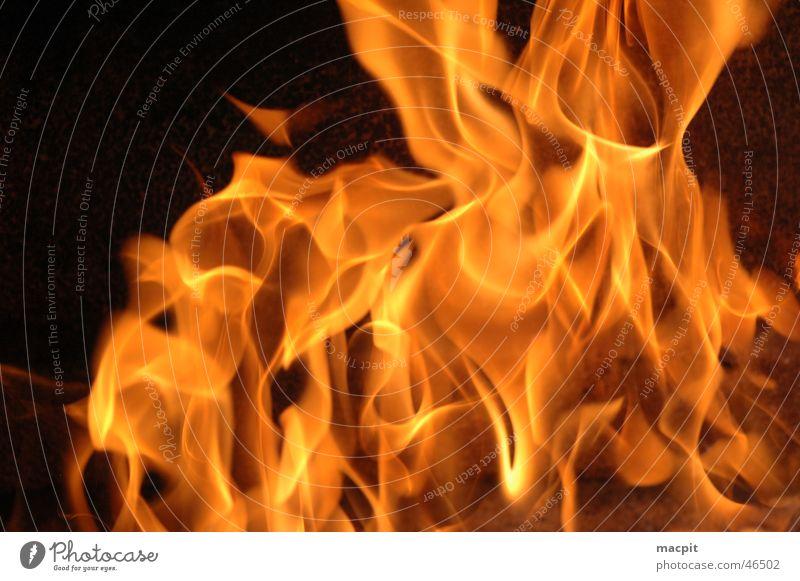 Feuer Grill heiß Brand Flamme