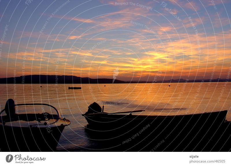 Boote Himmel See Wasserfahrzeug Abenddämmerung