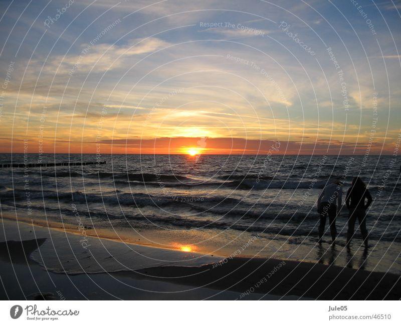 Sonnenspiel Himmel Meer Strand Ferne Glück Landschaft Freundschaft