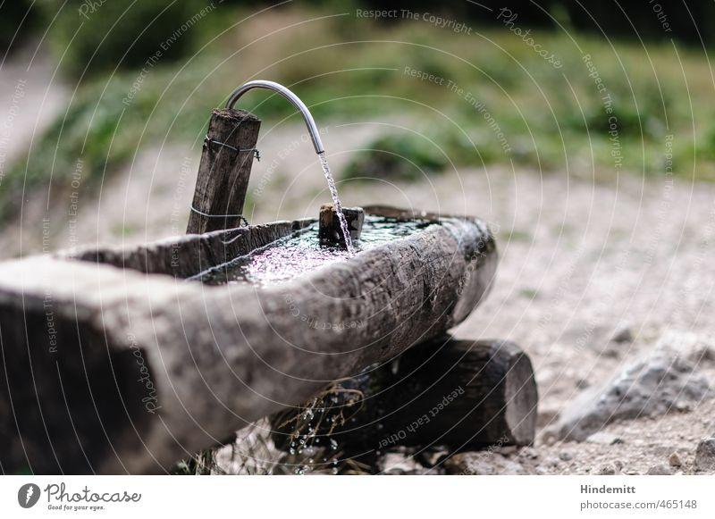 Montag-Morgen-Erfrischung gefällig? Ferien & Urlaub & Reisen grün Sommer Wasser Berge u. Gebirge Leben Wiese Gras Holz grau Stein braun Metall Felsen Tourismus glänzend
