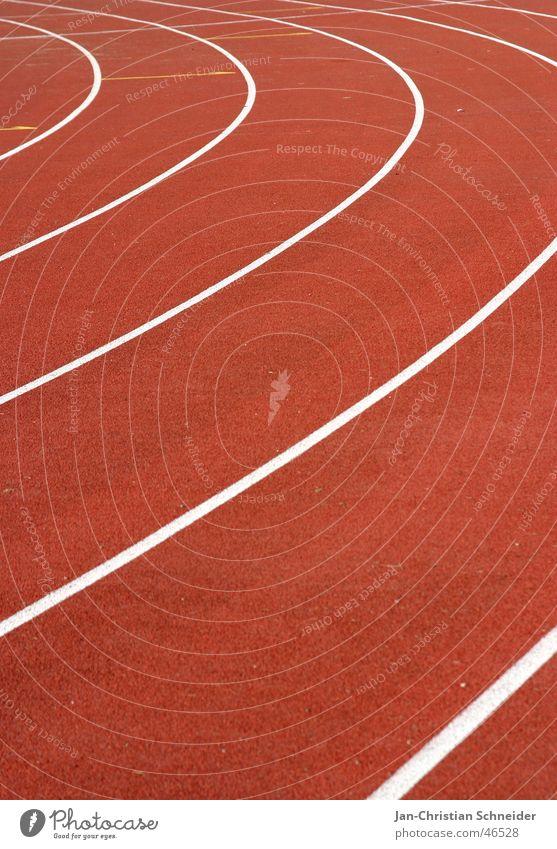 Laufbahn weiß Sonne rot Sport Linie laufen Eisenbahn Bodenbelag Streifen Reihe Sportveranstaltung Sportler Lebenslauf Untergrund