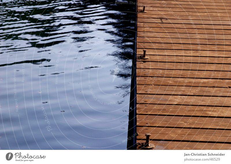 Bootssteg Wellen Holz Wasserfahrzeug Steg See Himmel Holzbrett Schraube