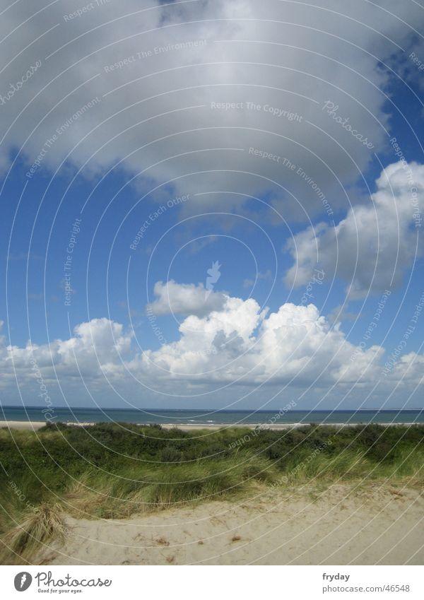 an der nordseeküste ... See Küste Meer Strand Wolken schlechtes Wetter Nordsee Sand Stranddüne Himmel