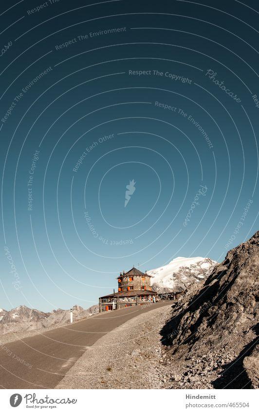 1000 | Tibet... Himmel Ferien & Urlaub & Reisen blau Sommer Ferne Berge u. Gebirge Straße Schnee Wege & Pfade grau Stein außergewöhnlich Felsen orange groß