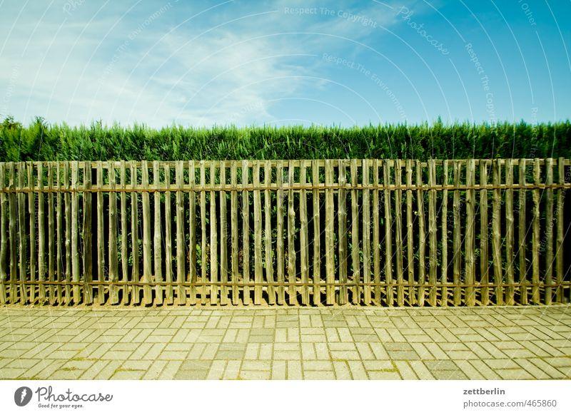 Gartenzaun Freizeit & Hobby Ferien & Urlaub & Reisen Tourismus Ausflug Sommer Wohnung Umwelt Natur Pflanze Himmel Klima Klimawandel Wetter Schönes Wetter
