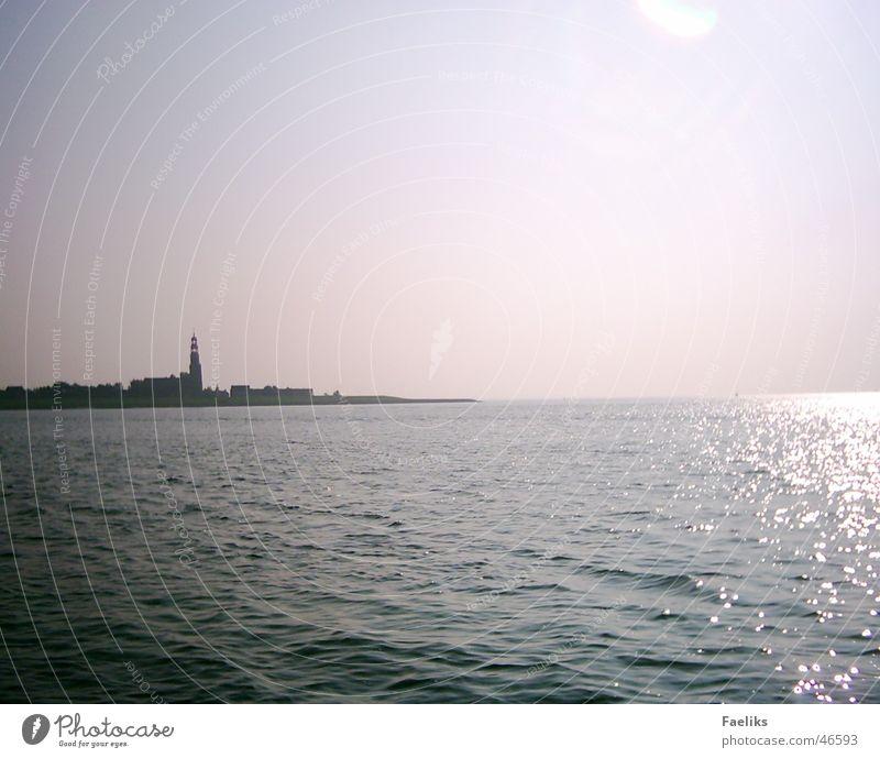 Hindeloopen Meer Physik Sonne Turm Wärme Schatten Reflexion & Spiegelung