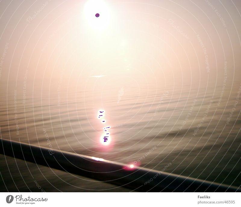 schwarze Sonne Wasser Meer rot Wärme Physik simpel