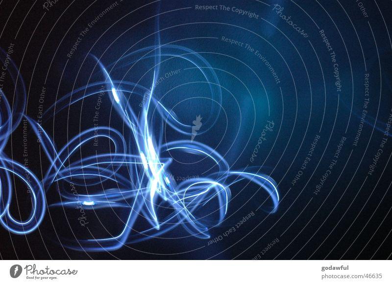 Quallen blau Bogen