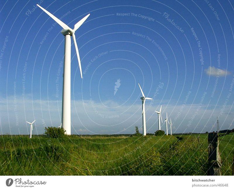 alternative Energie Windkraftanlage Grobian Ostfriesland Himmel Blauer Himmel Erneuerbare Energie Energiewirtschaft