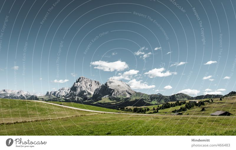 Tatsächlich Kulturlandschaft [landscape] Umwelt Natur Landschaft Urelemente Erde Luft Himmel Wolken Schönes Wetter Gras Wiese Wald Hügel Felsen Alpen