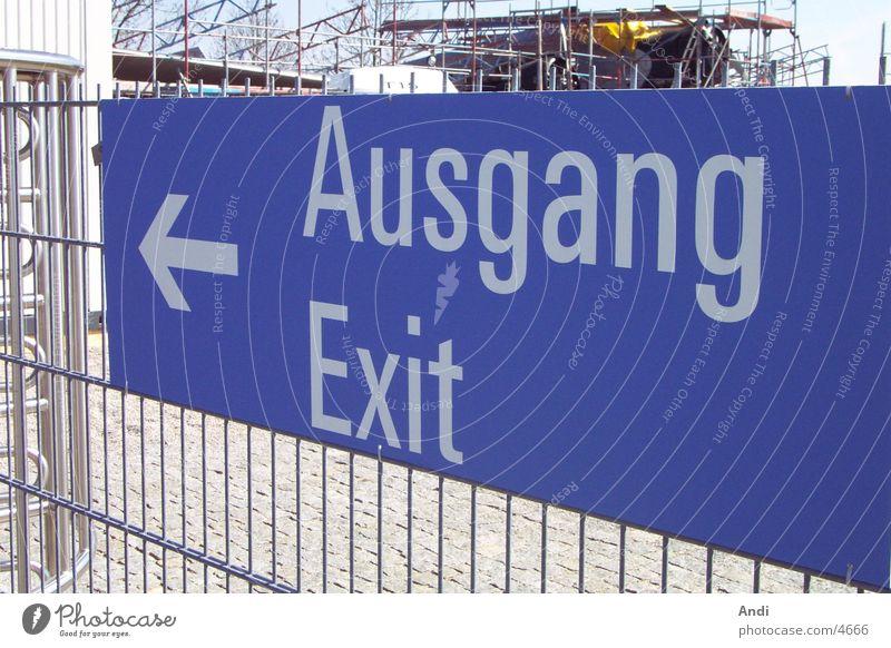 This Way Out Ausgang Fototechnik Exit Schilder & Markierungen Wegweiser