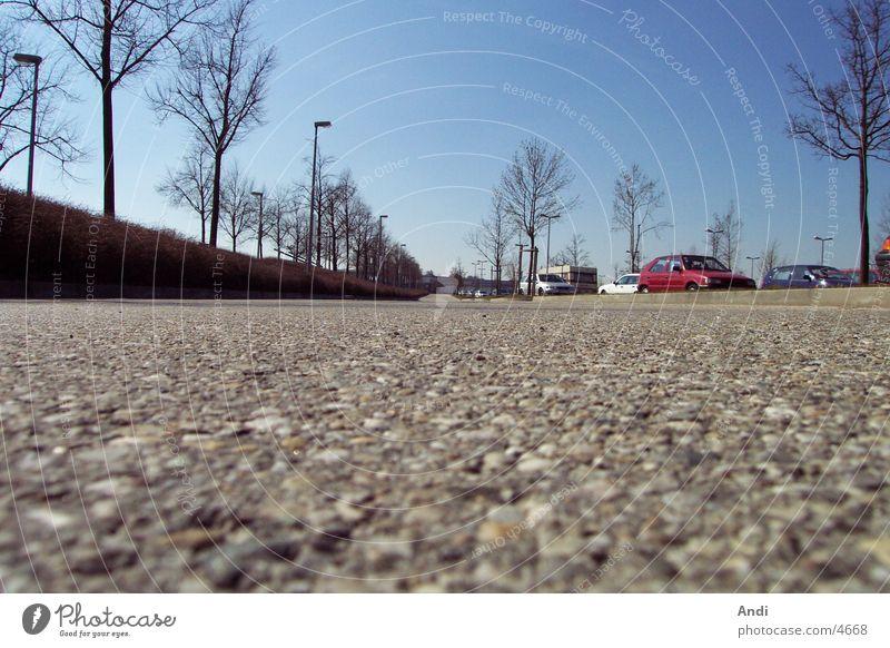 Parkplatz PKW Perspektive Bodenbelag Fototechnik