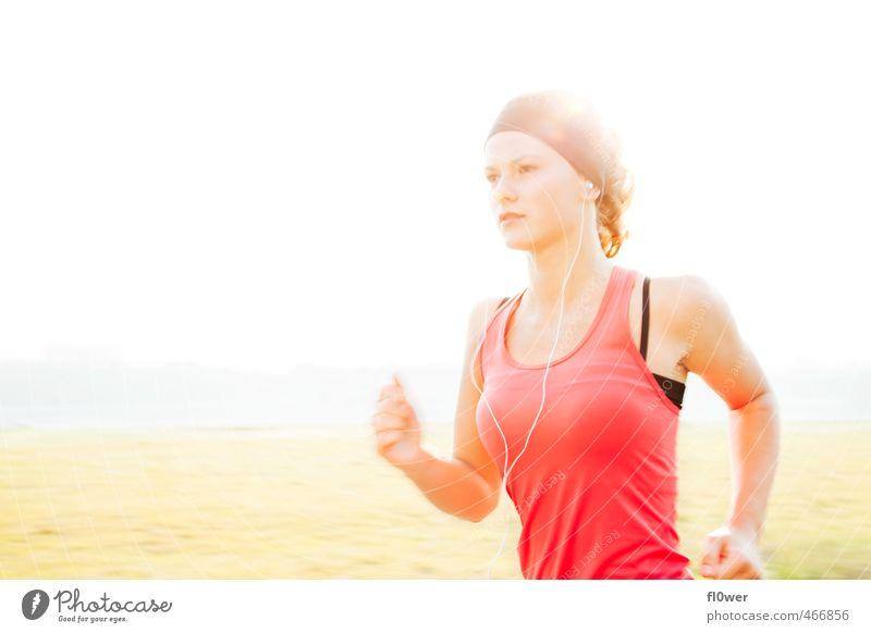 Just Run. Three. Sport Fitness Sport-Training Leichtathletik Sportler Joggen feminin Junge Frau Jugendliche 1 Mensch 8-13 Jahre Kind Kindheit 13-18 Jahre