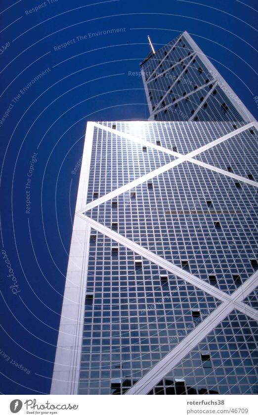 Bank of China Himmel Haus Berge u. Gebirge Hochhaus Asien Hongkong Chinesisch Hochformat Bank of China Tower