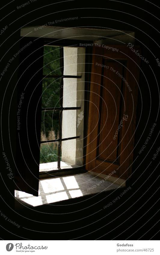 Lass den Tag herein Fenster Licht Glas
