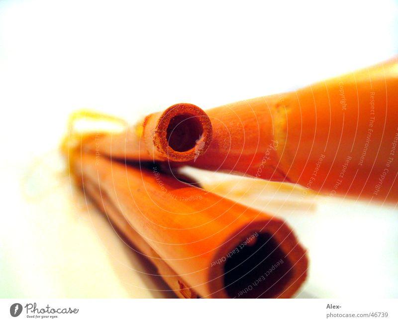 Bambusrohre orange Röhren Stock