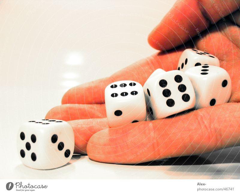 Würfelhand Hand Freude Spielen Würfel Zufall Glücksspiel