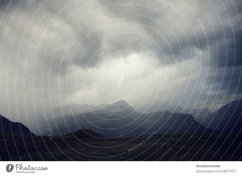 Reiter auf dem Sturm Umwelt Natur Landschaft Urelemente Erde Himmel Wolken Gewitterwolken Klima Wetter schlechtes Wetter Unwetter Wind Nebel Regen Felsen Alpen