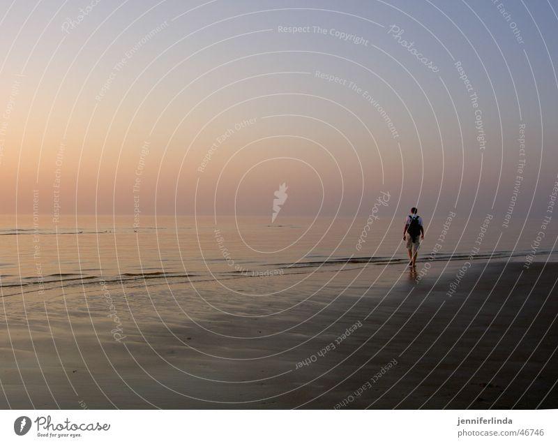 beloved in the sunset Sonnenuntergang Meer Pastellton Strand Einsamkeit Erholung ruhig Nordsee Ferne