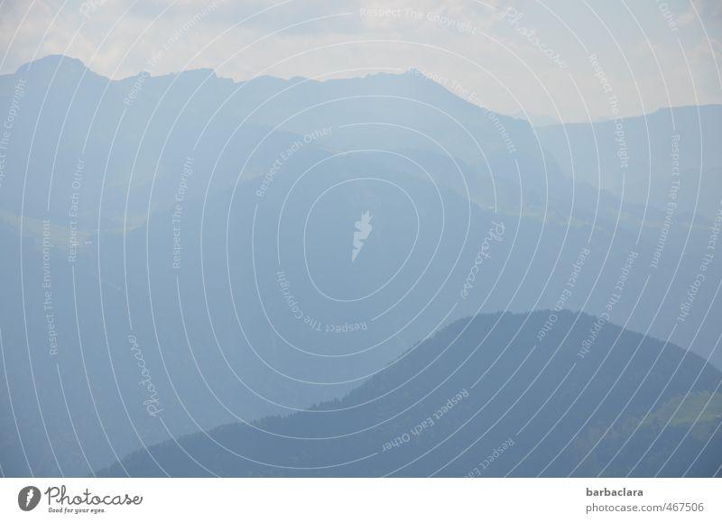 Blaue Berge (BB) Landschaft Urelemente Himmel Sommer Alpen Berge u. Gebirge Nebelhorn (Berg) groß hell blau Stimmung Freiheit Natur Sinnesorgane Umwelt Ferne