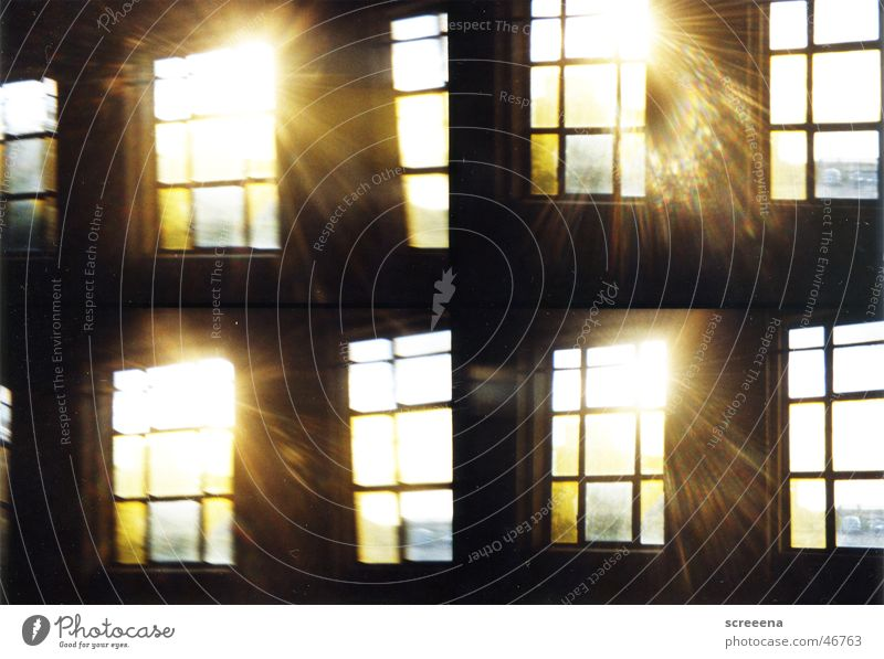 Maybe Someday Sonne dunkel Fenster Gebäude Wärme hell Industriefotografie