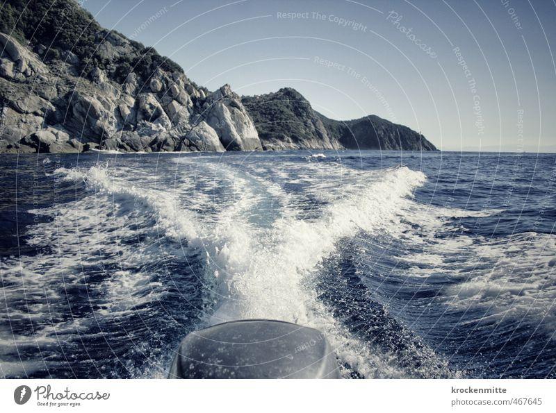 Napoleon verlässt Elba Redux Ferien & Urlaub & Reisen blau Sommer Meer Landschaft Freude Strand Umwelt Küste Wasserfahrzeug Felsen Wellen Tourismus Insel frisch