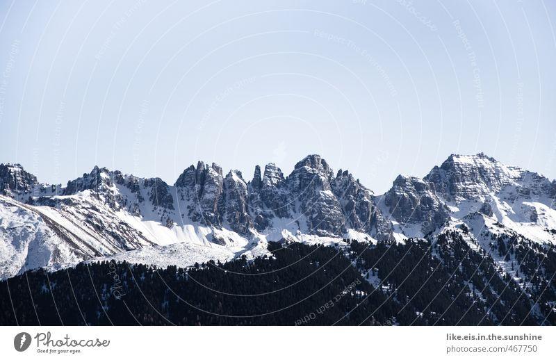 postkartengrüße aus tirol: 1€ Umwelt Natur Landschaft Urelemente Frühling Winter Schönes Wetter Eis Frost Schnee Wald Felsen Alpen Berge u. Gebirge Gipfel