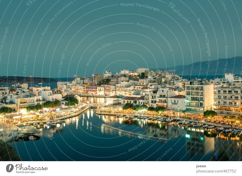 Agios Nikolaos Ferien & Urlaub & Reisen blau alt schön grün Sommer Erholung ruhig Haus gelb Horizont braun orange Idylle Tourismus Schönes Wetter