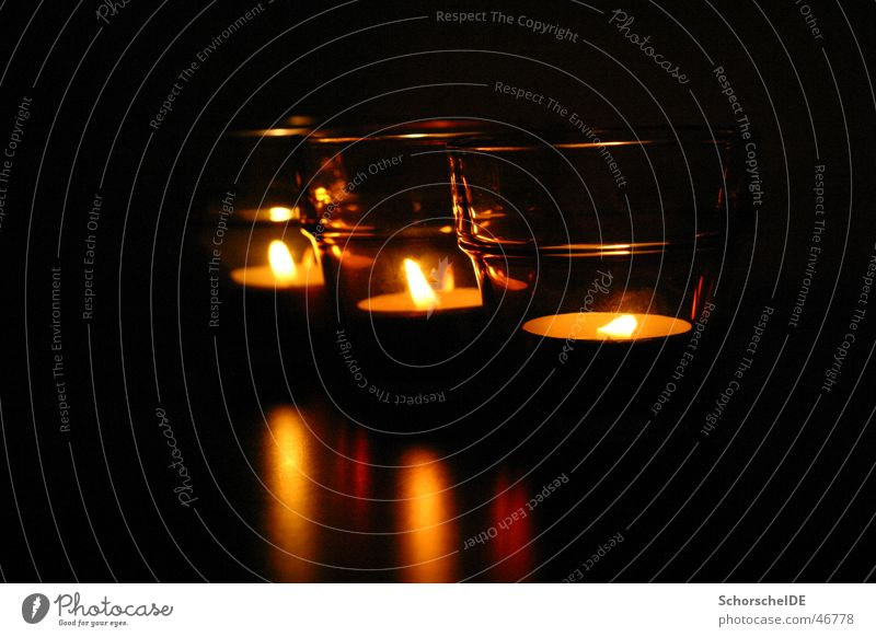 Kerzenschein Licht Teelicht Nacht Romantik Einsamkeit Wärme Weihnachten & Advent