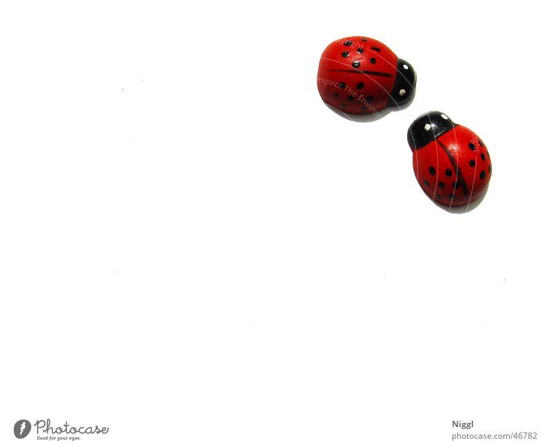 A Bugs Life weiß rot schwarz Holz Tierpaar paarweise Punkt Marienkäfer Holzfigur