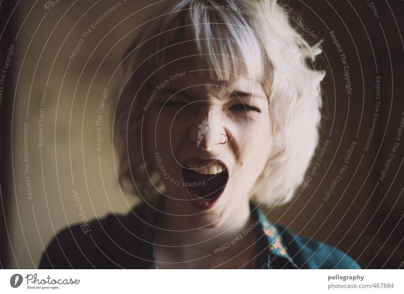 AHHHHHHHHHHHHHHHHHHHH Mensch feminin Junge Frau Jugendliche Erwachsene Leben Körper Kopf 1 18-30 Jahre weißhaarig Gefühle Stimmung Freude Zufriedenheit