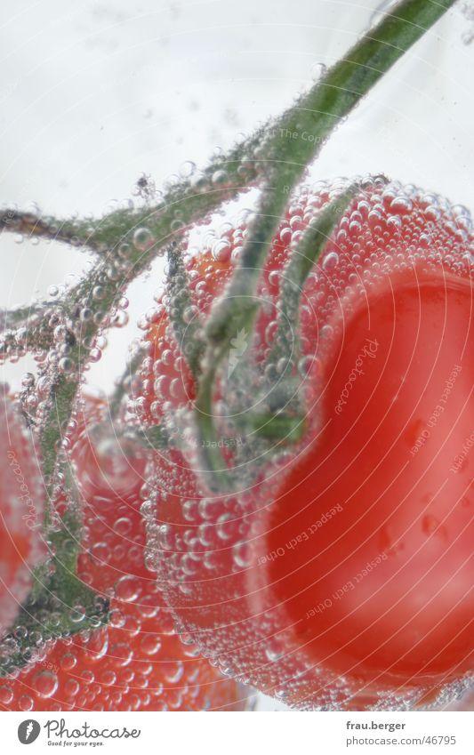 unterwassertomate auf traumreise Wasser grün rot Stil Hinterteil blasen Blase Tomate Gemüse Mineralwasser