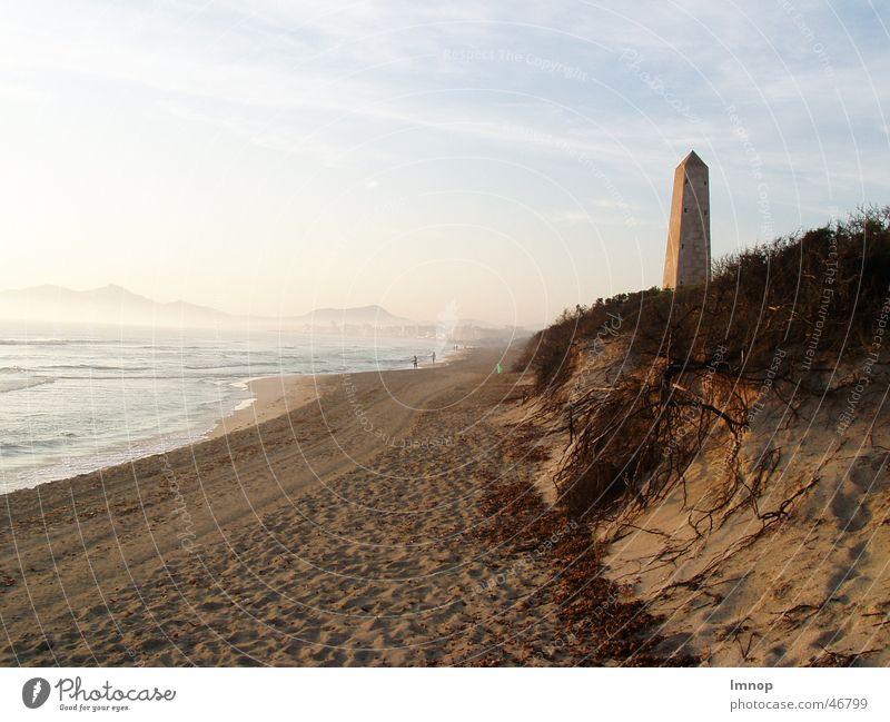 Weitblick Strand Meer Sonne Sand Wasser Spuren
