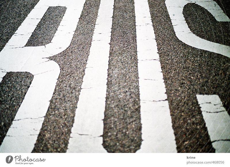 Bus weiß schwarz Straße Verkehr Perspektive Schriftzeichen Buchstaben fahren Asphalt Typographie Bus Personenverkehr Straßenverkehr Verkehrsmittel Verzerrung Öffentlicher Personennahverkehr