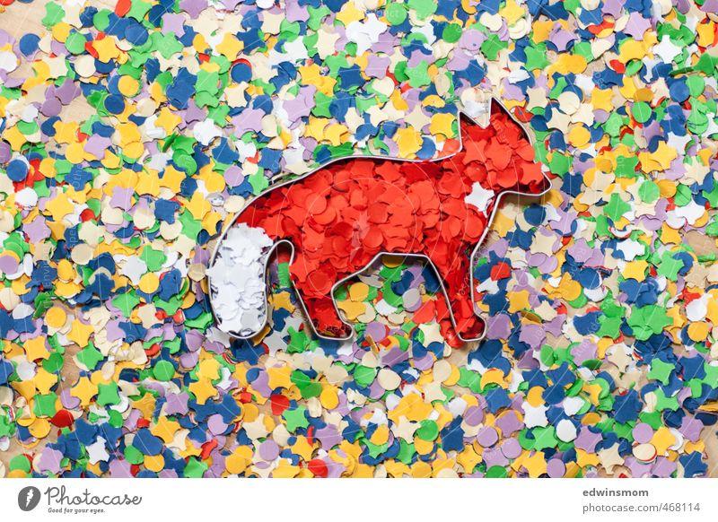 Kreativität. Konfetti. Ideen. Fuchs. rot Freude Herbst Spielen außergewöhnlich Party Kunst Freizeit & Hobby Kindheit Dekoration & Verzierung Fröhlichkeit