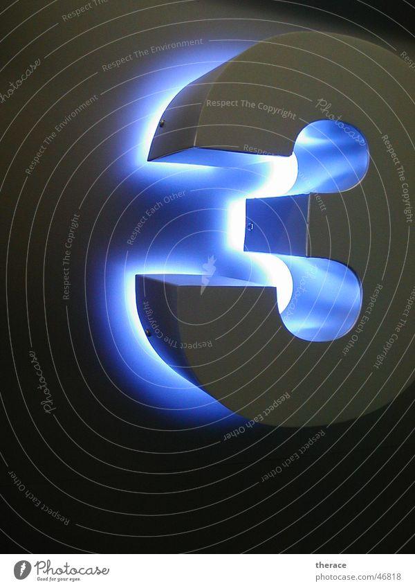 Profil 3 blau Schilder & Markierungen 3 Schriftzeichen Ziffern & Zahlen Kunststoff Werbung Typographie Neonlicht