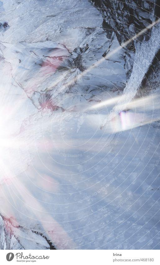 der Gletscher kalbt Natur blau weiß kalt Eis leuchten Klima Schönes Wetter Urelemente Vergänglichkeit Wandel & Veränderung Frost türkis frieren Klimawandel