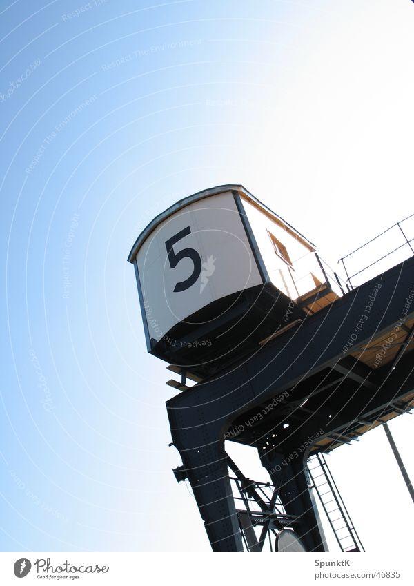 kran 5 Kran Stahl Arbeit & Erwerbstätigkeit Gewicht Ziffern & Zahlen Führerhaus Köln Hafen Industriefotografie Güterverkehr & Logistik Drahtseil Seil Himmel